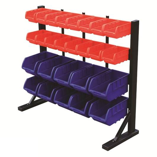 Picture of Bin Racks with Polypropylene  Bins