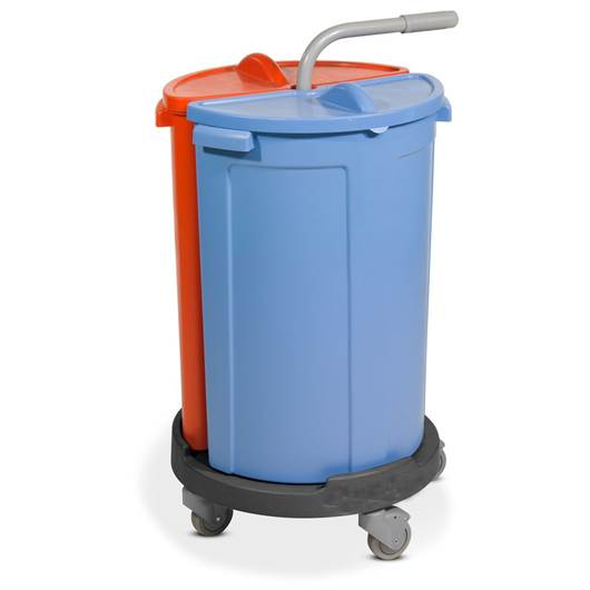 Picture of Twin Bin Caddy Janitorial Trolley