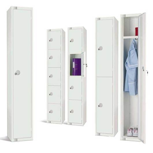 Picture of All White Lockers