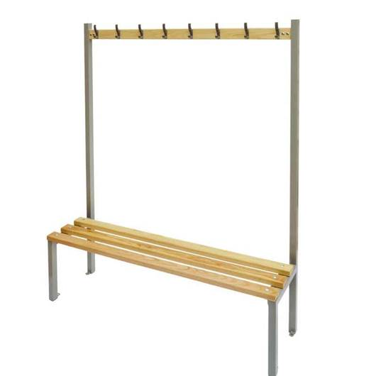 Picture of Single Sided Cloakroom Bench with Coat Hooks