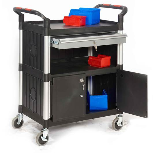 Picture of Proplaz Shelf Trolleys with Drawers & Cupboard