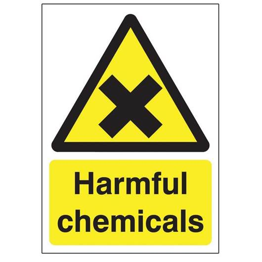 Picture of Harmful Chemicals Sign