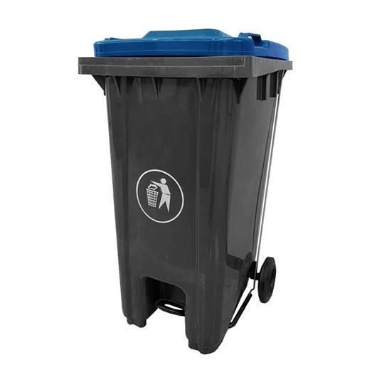 Picture of Pedal Wheeled Bins with Coloured Lids